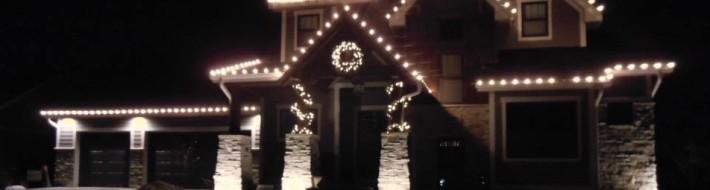Sophisticated light display Prairie Trail Ankeny Iowa