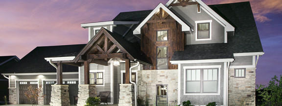 Rustic Arts & Crafts home at Prairie Trail in Ankeny, Iowa