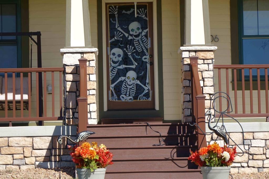 Halloween scary front door